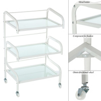 Hair Drawers Glass Salon Trolley Rolling Cart Salon Storage Hair Colouring Cart Hair Trolley for Barber Hairdressing accessories