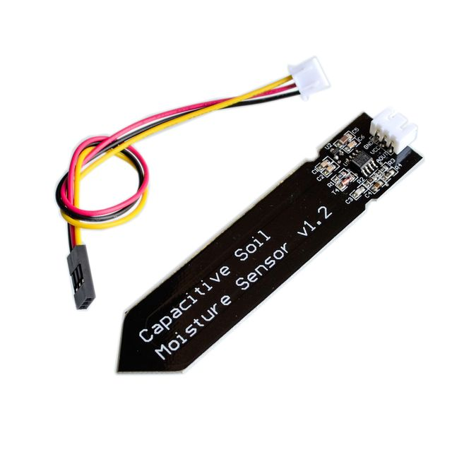 Capacitive Analog Soil Moisture Sensor, 3.3~5.5V Corrosion Resistant with Gravity 3-Pin interface for Arduino Raspberry