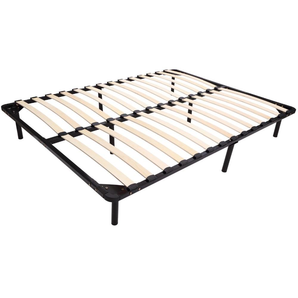 Larga tamaño completo Queen plataforma marco de la cama de Metal ...