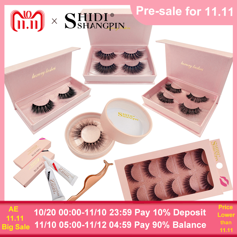 SHIDISHANGPIN lashes kit natural long false eyelashes hand made 3d mink fake eyelash extension lash makeup tool mink eyelashes shidishangpin 50 boxes mink eyelashes 1cm 1 5cm makeup full strip lashes hand made 3d mink lashes 250 pairs makeup false eyelash