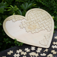 Customs Personalised Puzzle Heart Shaped Wedding Guestbook Alternative Hanging Heart Puzzle Wedding Guest Book Hearts