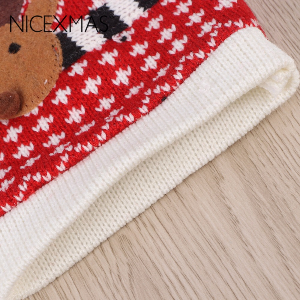 Christmas Decoration Supplies Red Wine Bottle Cover Wool Bags ...