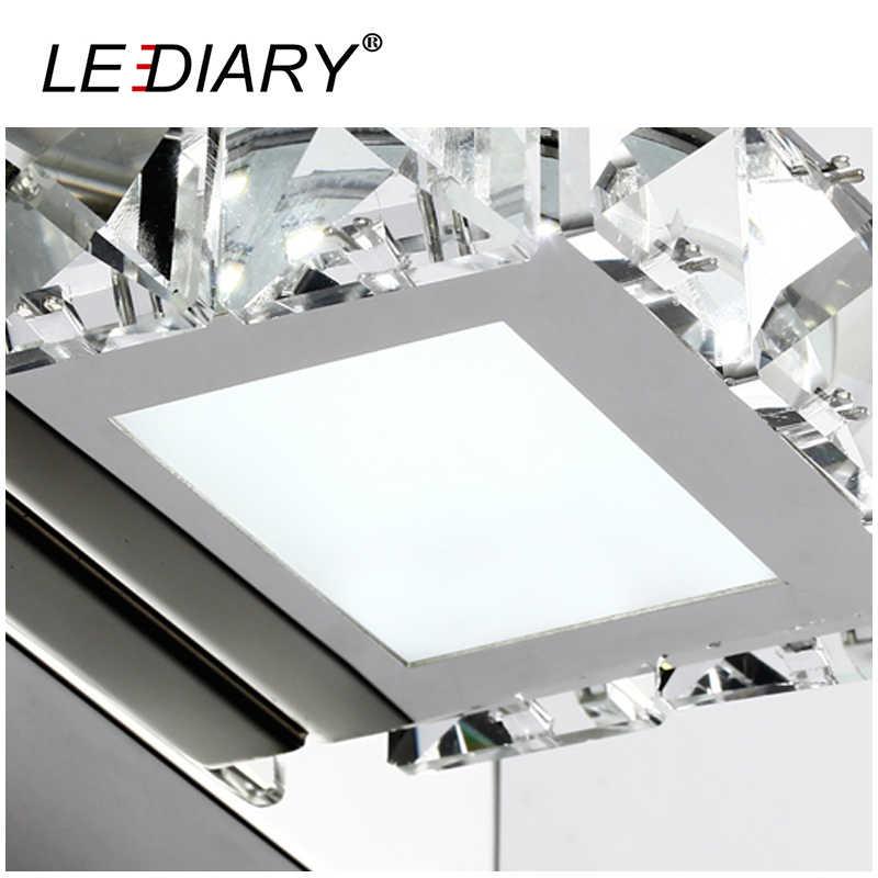 Zmisibo 60 светодиодов четырехголовый настенный светильник 62 см квадратный кристалл зеркало свет 12 Вт AC 110-220 В ванная комната лампа Декор из нержавеющей стали