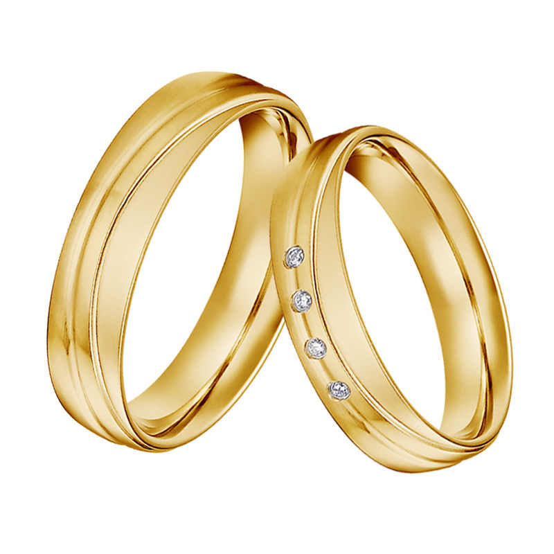 Unique Mutil Layer Alliances Marriage Wedding Rings Set For