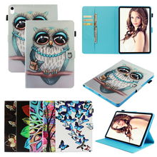 Magnetic Funda Case For Apple New iPad 9.7 2017 2018 Fashion 3D Printed Butterfly OWL PU Leather Flip Wallet Silicone Shell