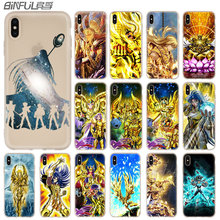 Saint Seiya Étui souple pour iPhone 12 11 Pro X XS Max XR 8 7 6 Plus 5s SE 2020 S 6.1 Mini Couverture