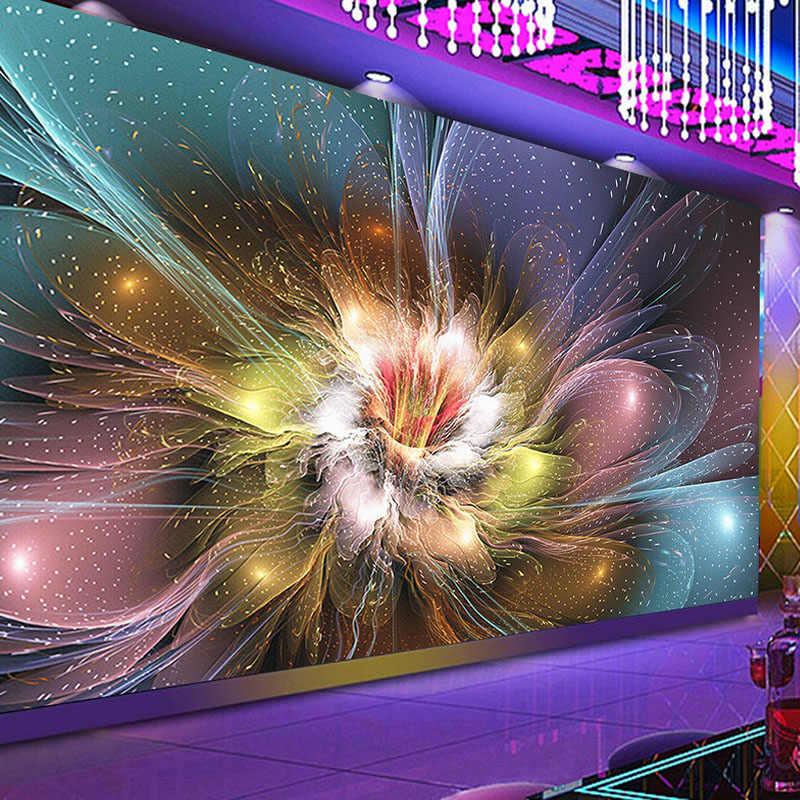 Custom 3d Mural Wallpaper Modern Creative Cool Nightclub Flower