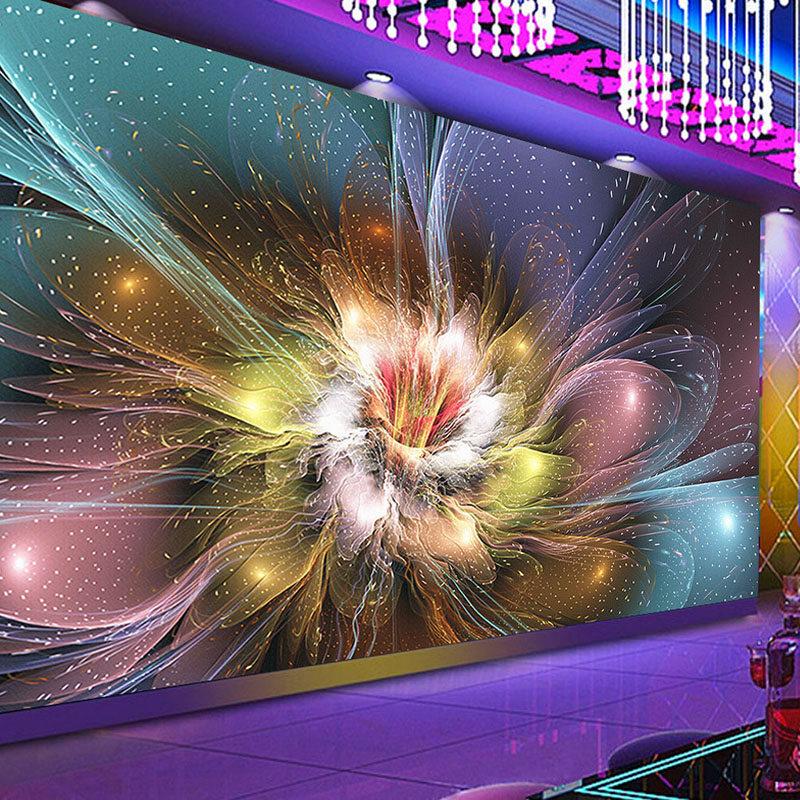 Custom 3D Mural Wallpaper Modern Creative Cool Nightclub Flower Bar KTV Background Art Wall Papers For Walls 3D Papel De Parede