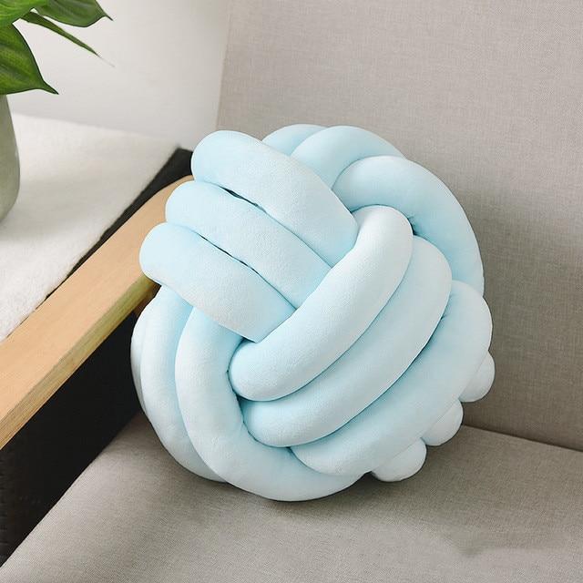 Coussins tricotés taille arrière Cusions nouées oreillers solides oreiller doux pour canapé-lit chambre de bébé décoratif Almofadas Textile