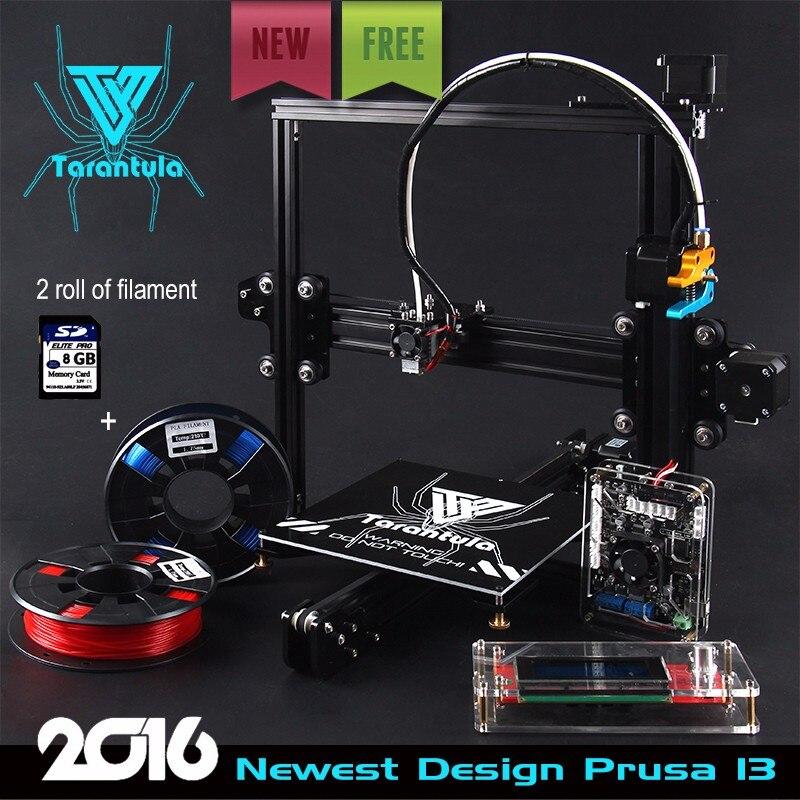 Prix pour 3D Imprimante Bricolage Tevo Tarantula Reprap I3 Aluminium D'extrusion 3D imprimante Kit 2 Rolls Filament 8 GB SD carte LCD Comme cadeau