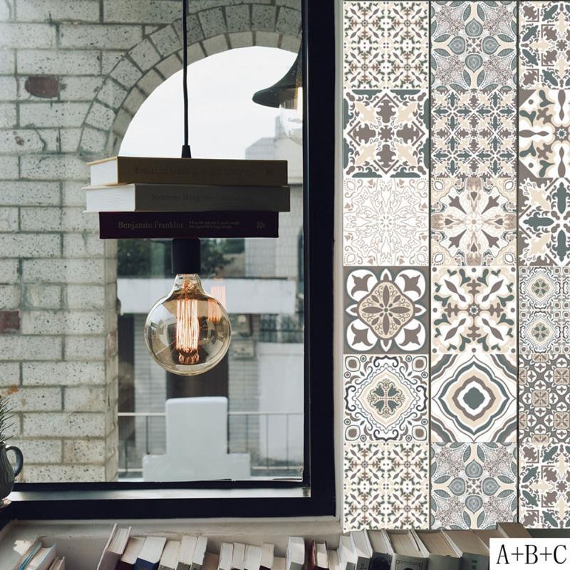 US $1.97 32% OFF|Retro Fliesen Wand Aufkleber für Bad Küche Dekoration  Klebstoff Wasserdicht PVC Wand Aufkleber Küche Taille Linie Dekoration-in  ...