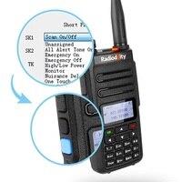 מכשיר הקשר 2pcs Radioddity GD-77 Dual Band Dual זמן חריץ DMR דיגיטלי אנלוגי שני הדרך רדיו 136-174 400-470MHz Ham מכשיר הקשר עם כבל (3)
