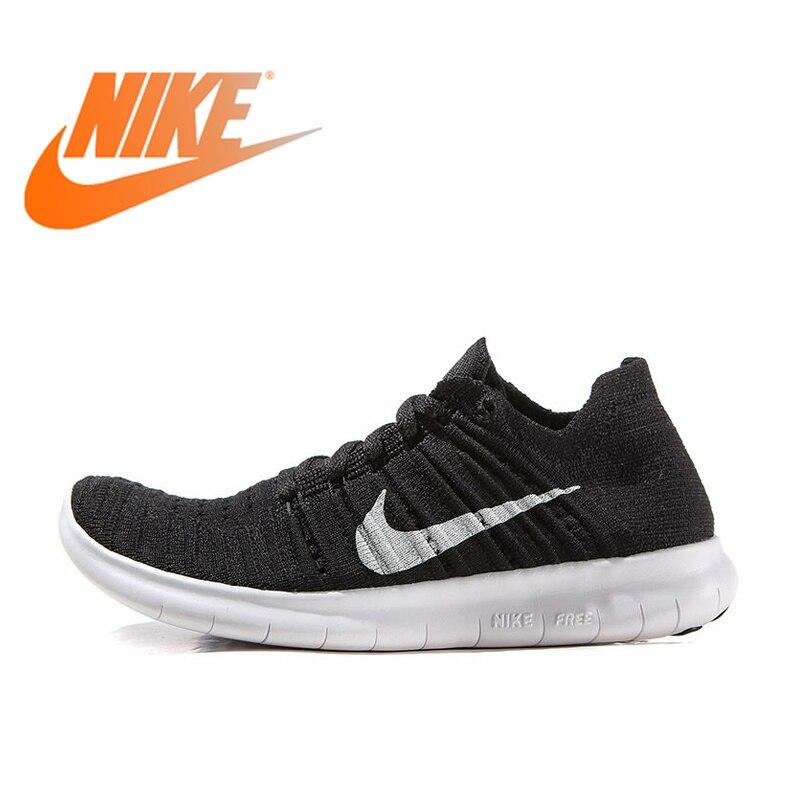 Chaussures de course respirantes pour femmes Nike Free RN Flyknit authentiques chaussures de sport chaussures de Tennis d'extérieur