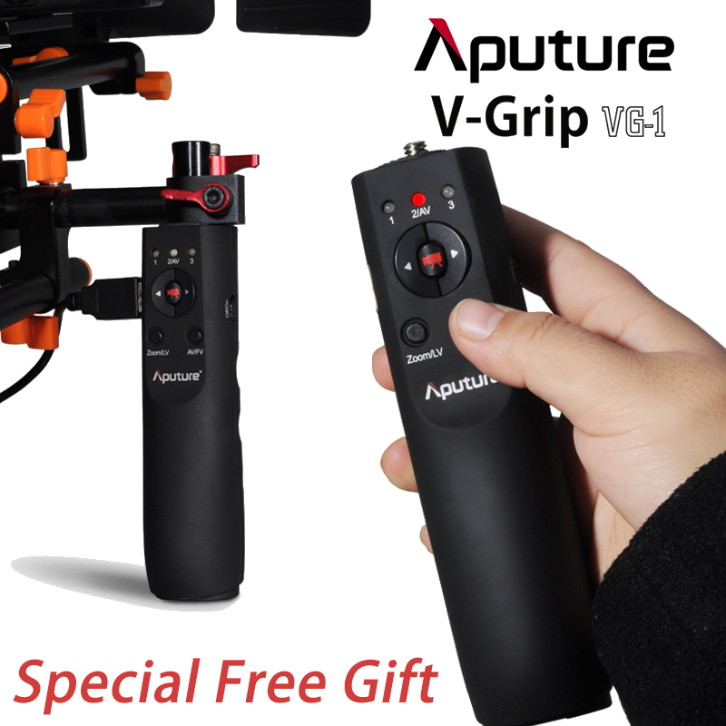 Aputure V-Grip VG-1 USB Focus Handle Grip Follow Focus Controller for Canon 5D Mark III II 7D 60D 5D2 5D3 aputure combo ir wired remote shutter control for canon eos 7d 5d mark ii 1 x cr2032