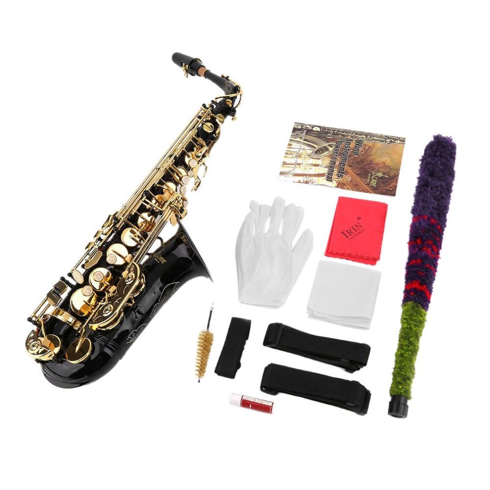 Nouveau Professionnel Eb Alto Saxophone Sax Ensemble Personnelle Durable Basse Corps Instruments de Musique Eb Alto Saxophone Sax Kits Bateau Libre
