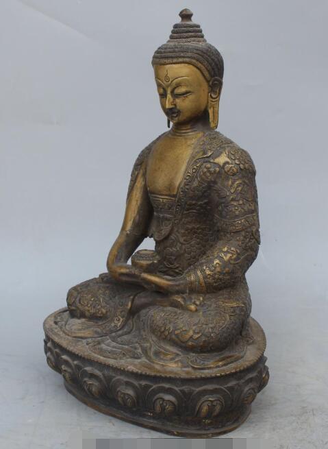 S5100 13 Chinese Tibetan Buddhism Bronze Seat Lotus Shakyamuni Amitabha Buddha StatueS5100 13 Chinese Tibetan Buddhism Bronze Seat Lotus Shakyamuni Amitabha Buddha Statue