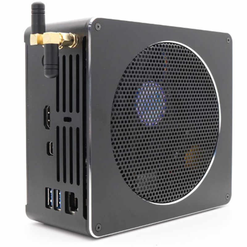 Eglobal Nuc كمبيوتر مكتبي صغير i9 8950HK/i7 8750 H/Xeon E-2176M/I5 8300H DDR4 ماكس 32GB القهوة بحيرة كمبيوتر صغير التيار المتناوب واي فاي