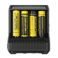 Nitecore i8 Intelligent Charger 8 Slots 4A Output Smart Battery Charger for IMR18650 16340 10440 AA AAA 14500 26650 and USB