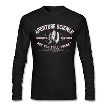 Modern Aperture Science Security Division Gril Tees Comfortable Cotton Fabric Long Sleeves Apearl