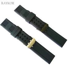 ea61e6a3792 23mm Faixa De Relógio de Borracha de Silicone para Luminox Homens Preto  Militar Mergulho Sports Correia