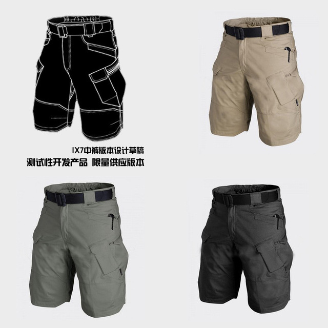 New Outdoors Overalls men homme IX7 Tactical Military City Sport Army Combat Training Shorts summer Multi short pant 1