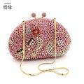 XIYUAN MARCA Mujer Bolsos de Embrague de Cristal de Diseño de Moda de Las Mujeres Con Cuentas Bolsos niñas Shine Rhinestone Del Diamante Embragues Del Día de La Boda