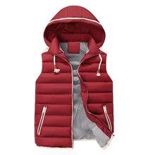 Здесь можно купить  Casual Men Vest Men Slim Fit 2017 Hot Sale Waistcoat Hat Detachable Hooded Winter Warm Windbreak Khaki Men Vest M- 4XL 4 Colors