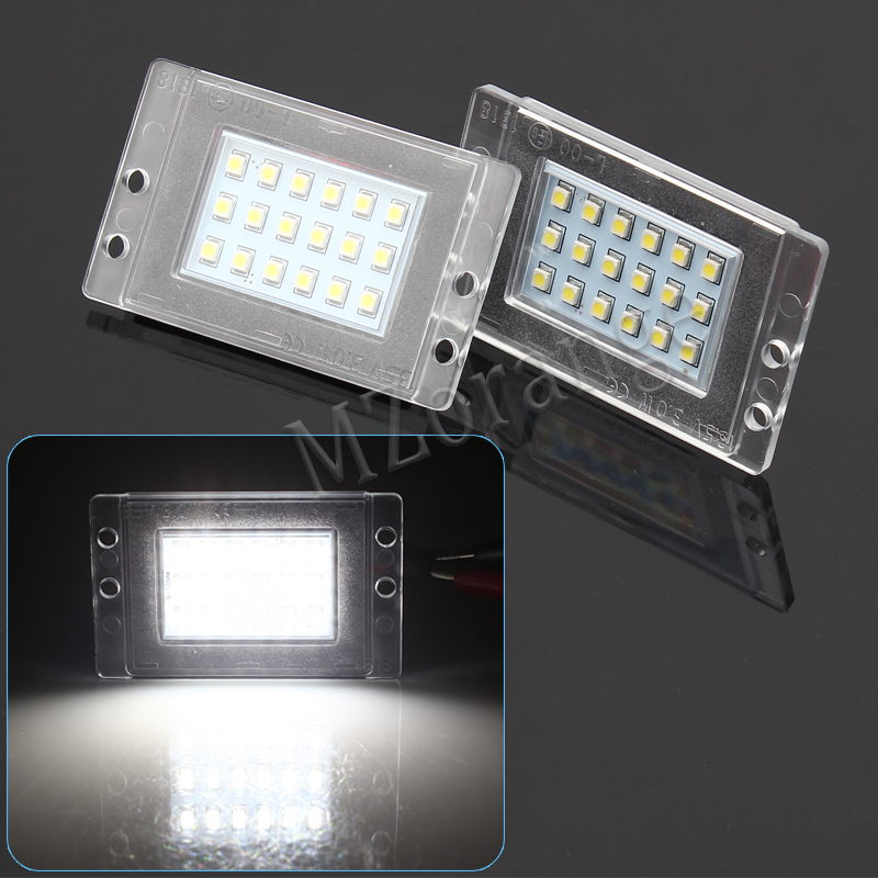 2XCar LED License Plate Light For Volvo 855 1993-1997 V70 XC 1997-2000 accessories No error White SMD LED Number Plate Lamp 2pcs car led license plate lights 12v white smd3528 led number plate lamp bulb kit for ford focus c max 03 07