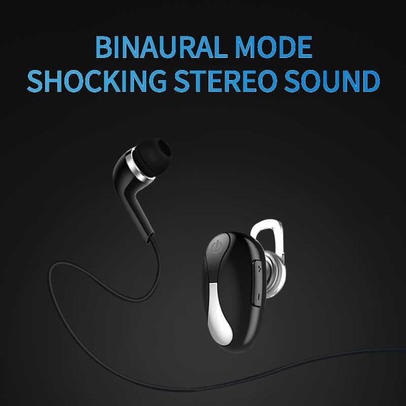 SANLEPU Mini Bluetooth słuchawki zestaw słuchawkowy Bluetooth bezprzewodowe douszne słuchawki zestaw głośnomówiący do telefonu samochodowego Sport
