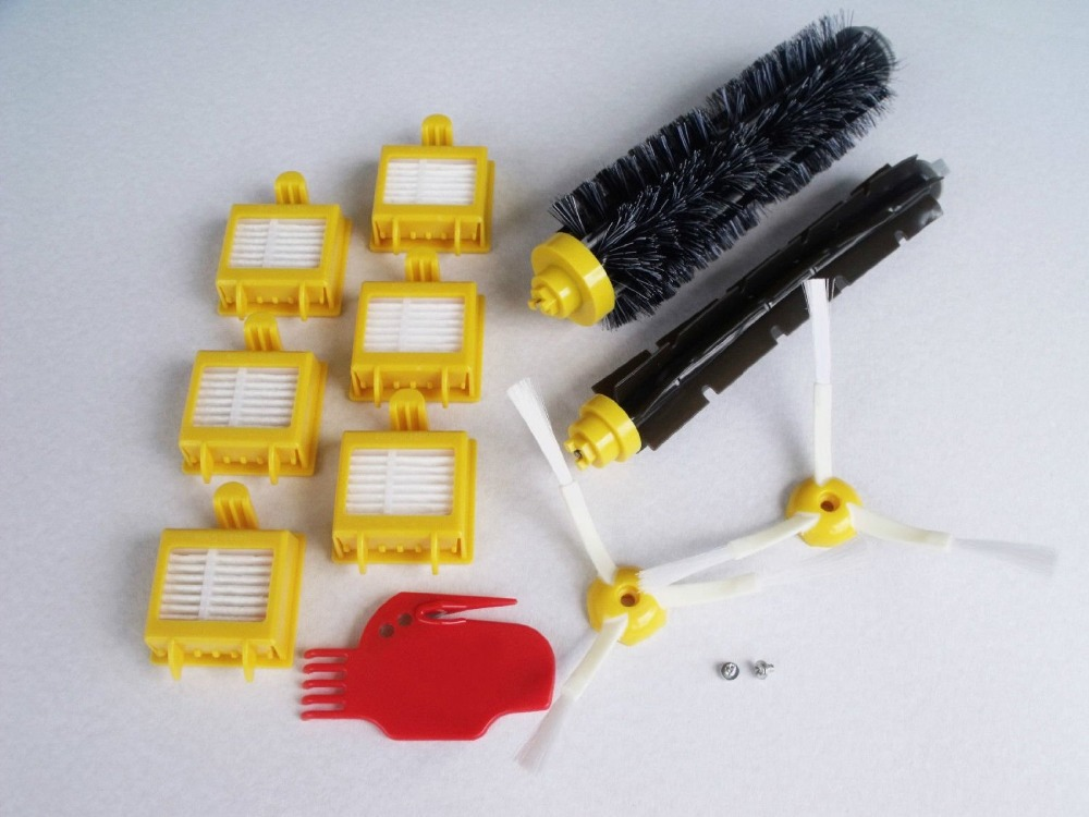Hepa Filters Bristle Brush Flexible Beater Brush 3-Armed Side Brush Cleaning Tool Screw For iRobot Roomba 700 Series 760 770 780 hepa filters bristle brush flexible beater brush 3 armed side brush pack set for irobot roomba 700 series 760 770 780 790