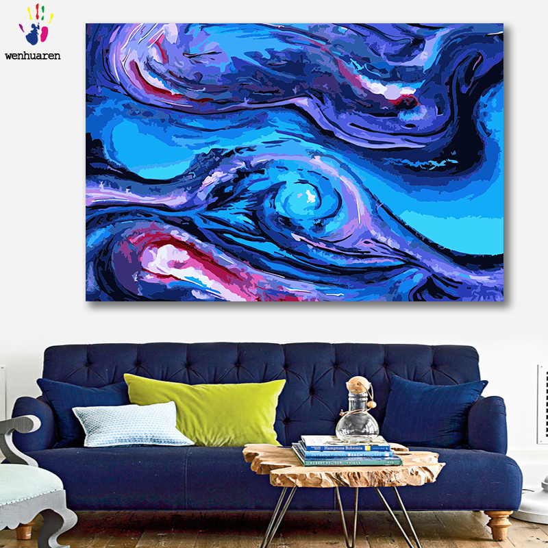 DIY painting picture by numbers colorful Abstract Modern simplicity picture coloring by numbers framed 40x50 for wall