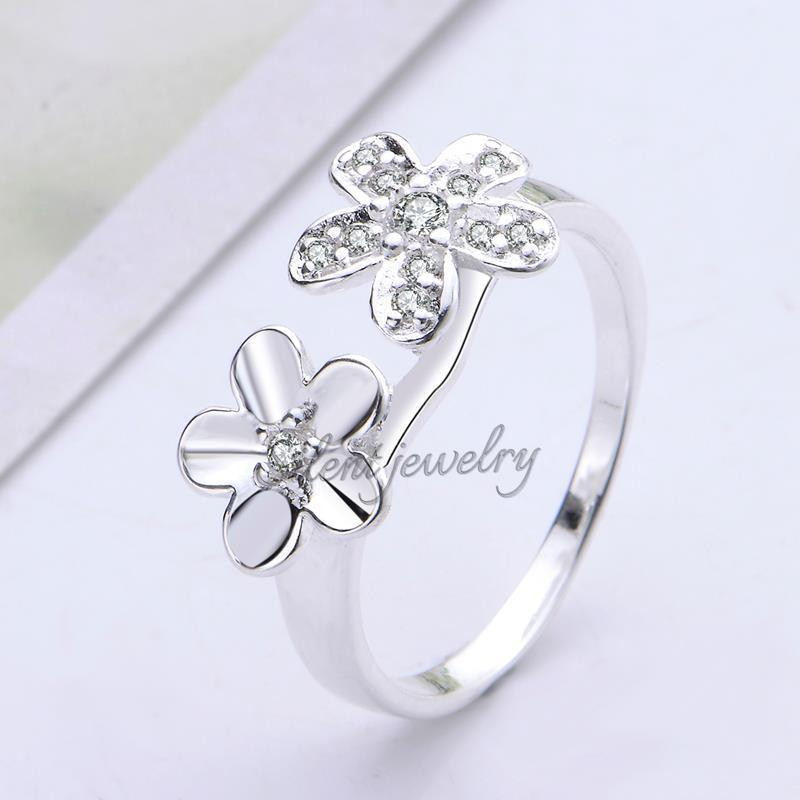 free shipping Exquisite double flower design girl brass engraved ...
