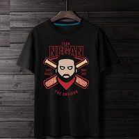 2017 Team Negan The Savior Baseball Lucille Walking Dead 3D Print Unisex 100 Cotton Men T