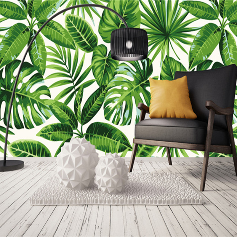 Custom 3D Photo Wallpapers Southeast Asia Murals Tree Forest Banana Leaves Background Walls Papers for Living Room Home Decor asia home кан джо традиционный столик