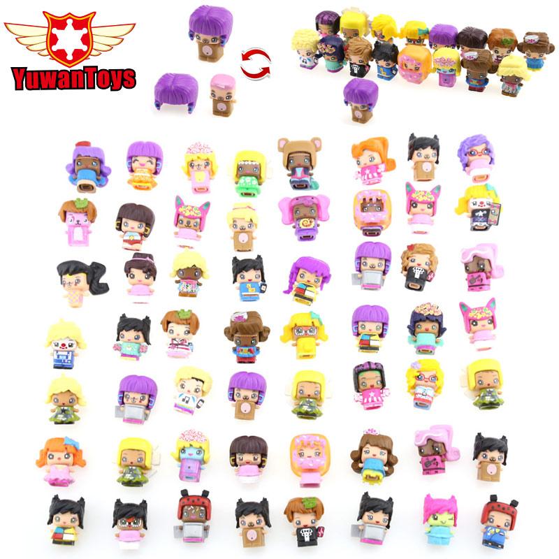 Hot Random 100Pcs MMMQ's My Mini Mixie Q's Anime Dolls Mixieq's Assembling Girl Model Capsule Toys Action Figures Mixieqs Gift