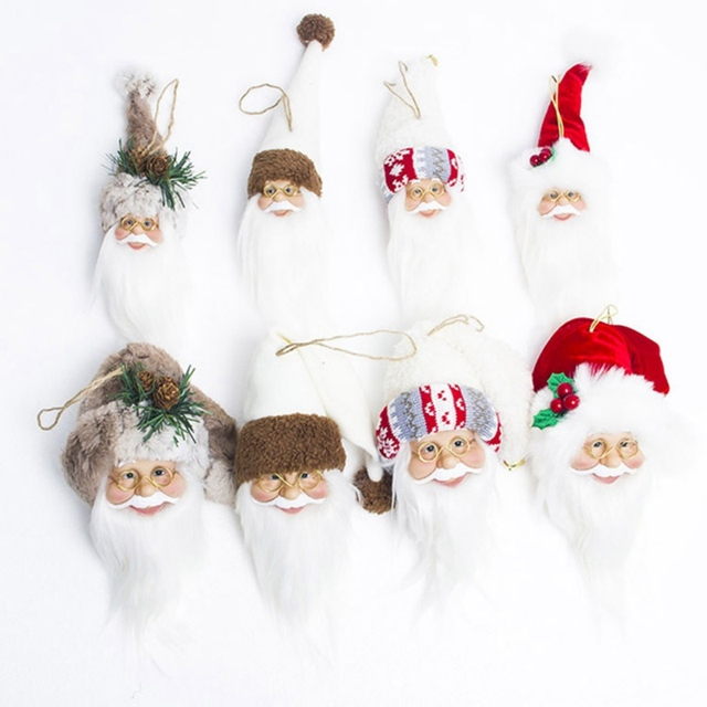 Us 1 76 34 Off White Beard Santa Claus Wine Covers Christmas Tree Toppers Home Decor Ornaments Christmas Tree Decor Cute Kids Gifts In Tree Toppers