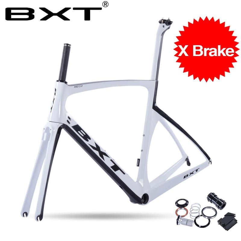 BXT Hot Sell Carbon T800 Road Bike Frame Fork+seatpost+frame Cheap Carbon Frame Road Bike Frame With Fork Carbon Free Shipping