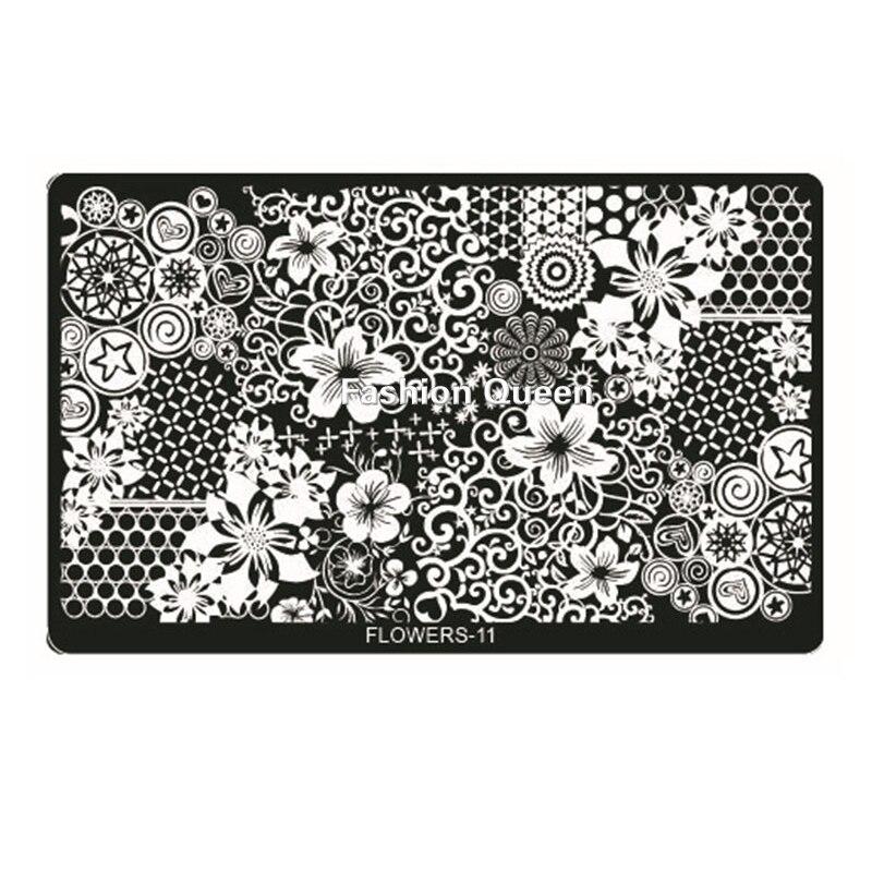 New Flowers Design Nail Art Stamping,1pcs Polish Nail Stamp Plates ...