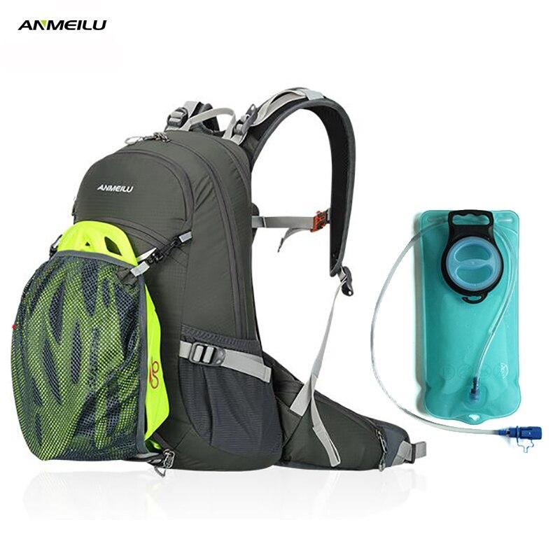 ANMEILU 20L Camping sac à dos 2L sac à eau étanche randonnée escalade cyclisme hydratation sac à dos sport sac à dos avec housse de pluie