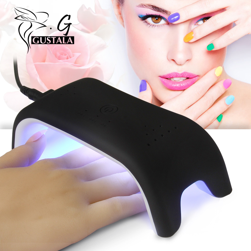 12W Mini Nail Equipment UV LED Nail Dryer USB Electric Power Automatic Induction Manicure Lamp for Curing Nail Gel Polish new professional dc 12v 2a 24w uv led nail lamp nail dryer unique design intelligent induction three setting buttons an adapter