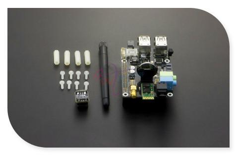 SupTronics X300 de Expansión Junta Shield, soporte de Micrófono de audio estéreo WiFi Bluetooth para Raspberry Pi Modelo B +/Pi 2/Pi 3