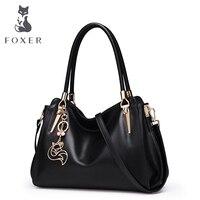FOXER Women Handbag Leather Shoulder Bag For Female Lady Brand Luxury Crossbody Bags High Quality Bags