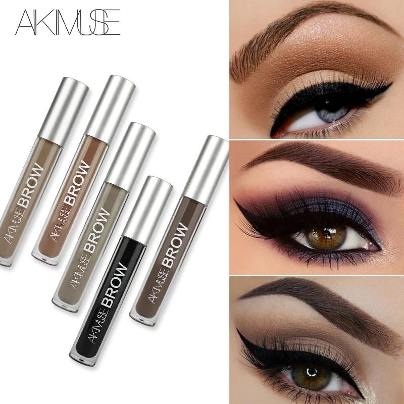 AIKIMUSE  Brand Eye Eyebrow Gel Perfect Eyebrows  Black Brown Tinted Eyebrow Makeup Gel Lasting Eyebrow Pencil makeup brushes