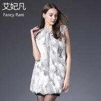 Real Fur Vest Women Rabbit Fur Vest Real Fur Coat for Women Winter Autumn Girls Sexy Fur Vest Coats Fashion Outwear High Quality