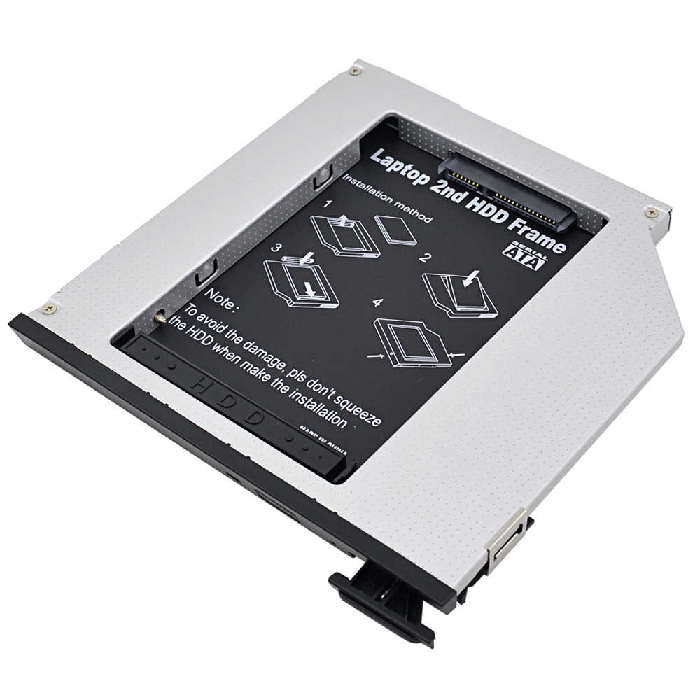 "Aluminium 2nd HDD Caddy 9.5mm SATA 3.0 2.5 ""obudowa ssd HDD obudowa do Dell E6310 E6400 E6500 E6410 E5400 M2400 M4500 Pro OptiBay"