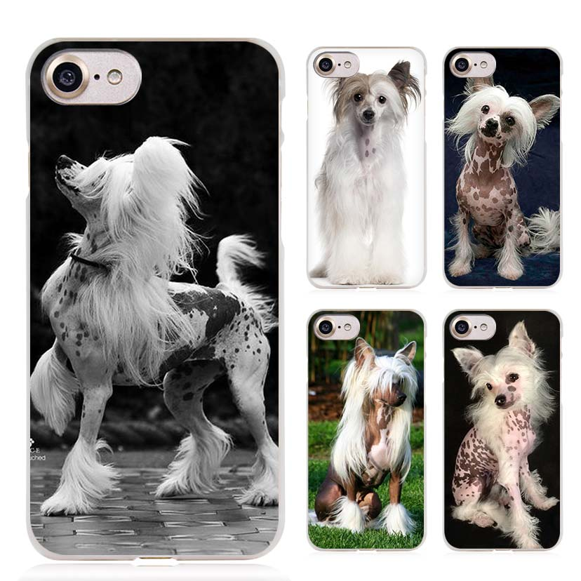Dog of breed Chinese crested Clear Cell Phone Case Cover for Apple iPhone 4 4s 5 5s SE 5c 6 6s 7 7s Plus