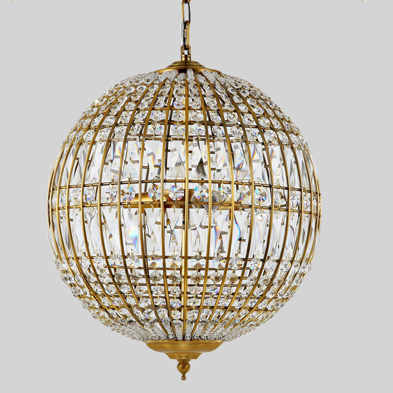 American style rustic industrial crystal ball pendant light lamp american style rustic industrial crystal ball pendant light lamp ac90 260v edison bulb loft vintage lighting fixtures new in pendant lights from lights aloadofball Images
