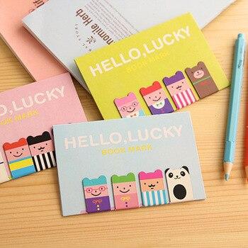 6 sets/lote marcadores magnéticos Lucky boy Metal marcapáginas libro punto de libro papelería de Oficina materiales útiles escolares