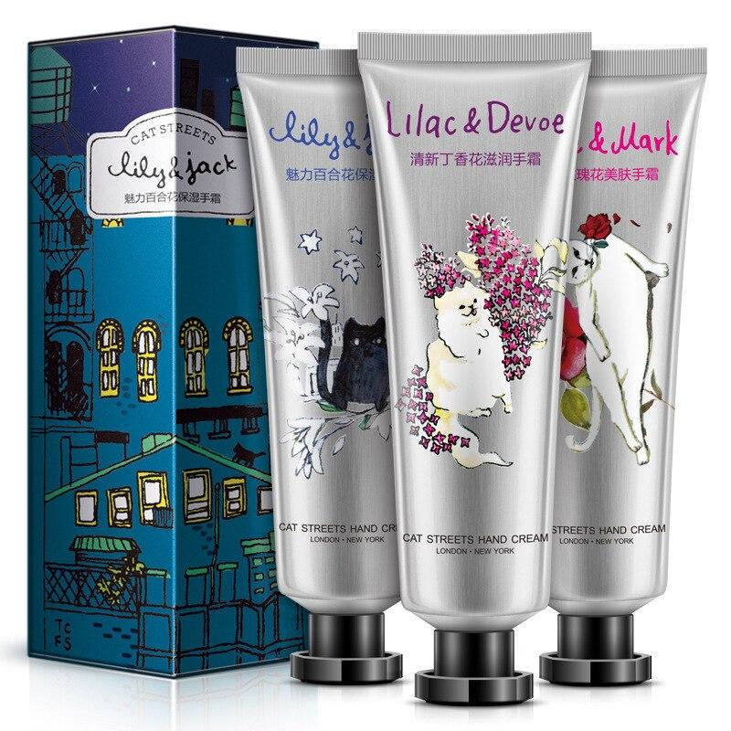 30g*3pcs BIOAQUA Cat Garden Hand Cream Moisturizer Hydrating Whitening Skin Flower Aroma Anti Wrinkles Men/women Hand Skin Care каталог aroma garden