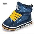 Koovan niños boots2017 niños zapatos botas niños niñas zapatos de bebé de invierno cálido impermeable 0-5 años de moda zapatillas de deporte